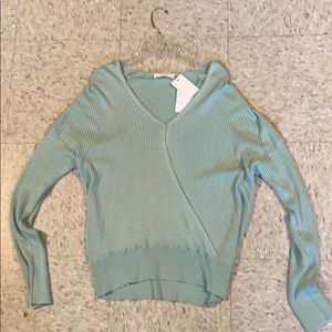 Green cozy sweater